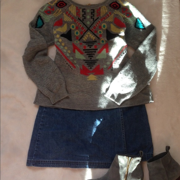 vintage Sweaters - Tribal Patterned Sweater
